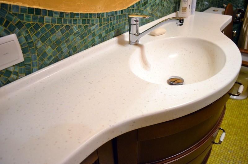 столешница в ванную дизайн