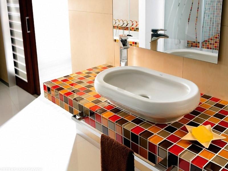 столешница в ванную мозаичная