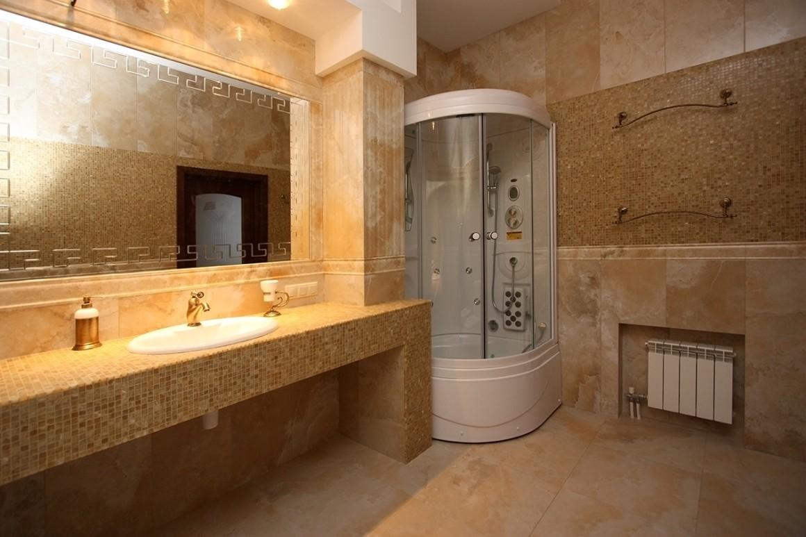 столешница в ванную оформление