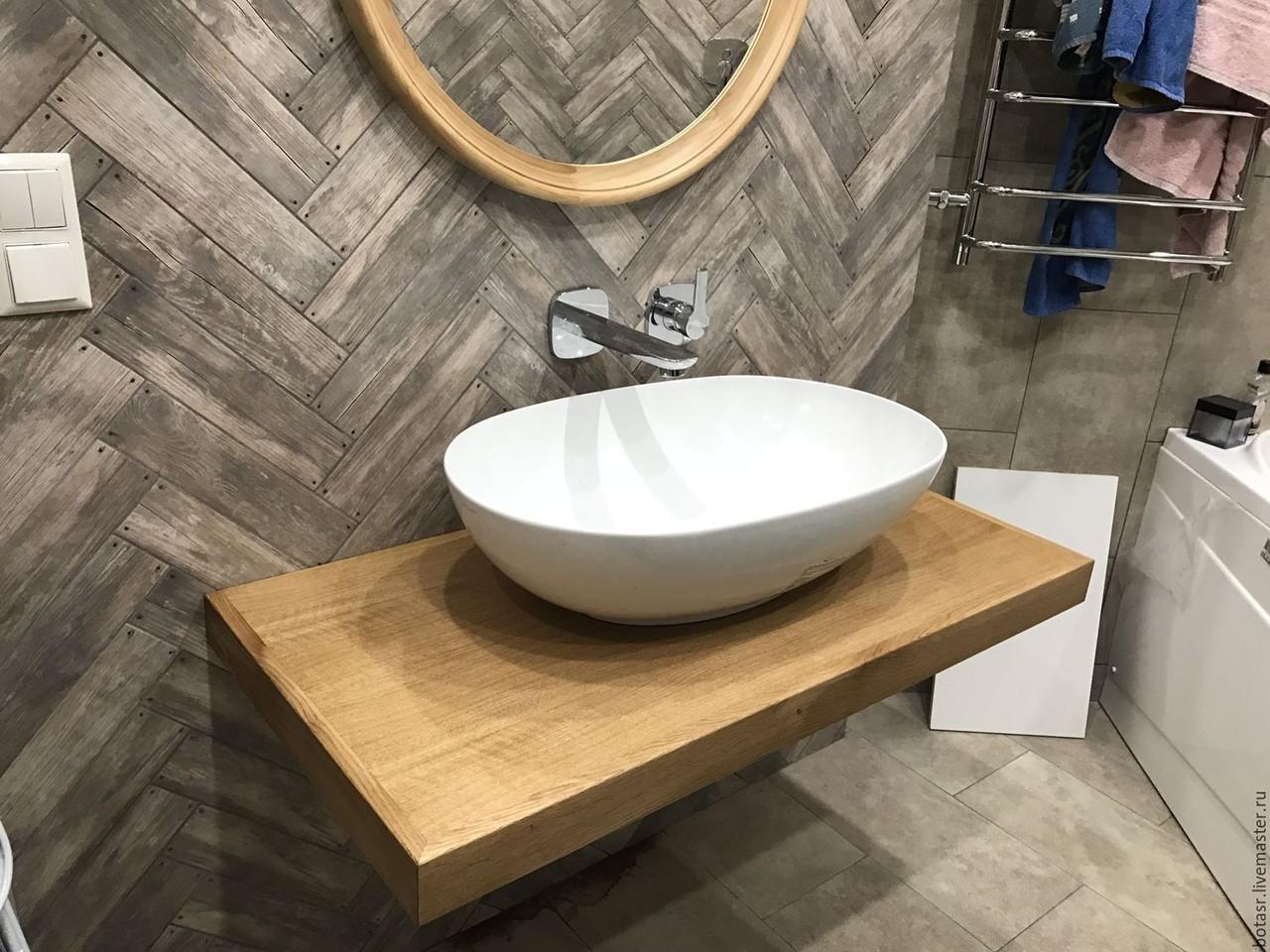 столешница в ванную варианты