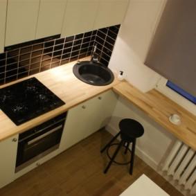 столешница вместо подоконника на кухне идеи фото