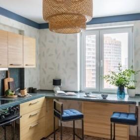 столешница вместо подоконника на кухне идеи дизайн