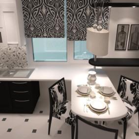 столешница вместо подоконника на кухне фото интерьер