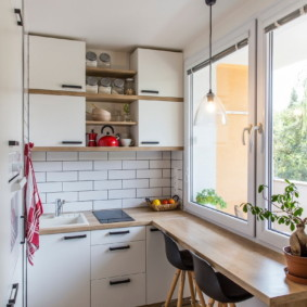 столешница вместо подоконника на кухне варианты фото