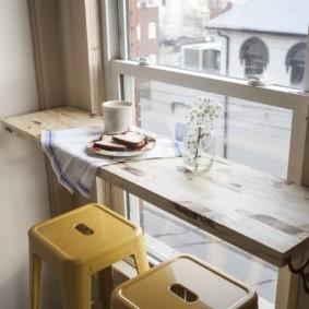столешница вместо подоконника на кухне варианты идеи