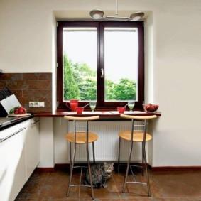 столешница вместо подоконника на кухне виды фото