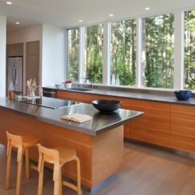 столешница вместо подоконника на кухне обзор