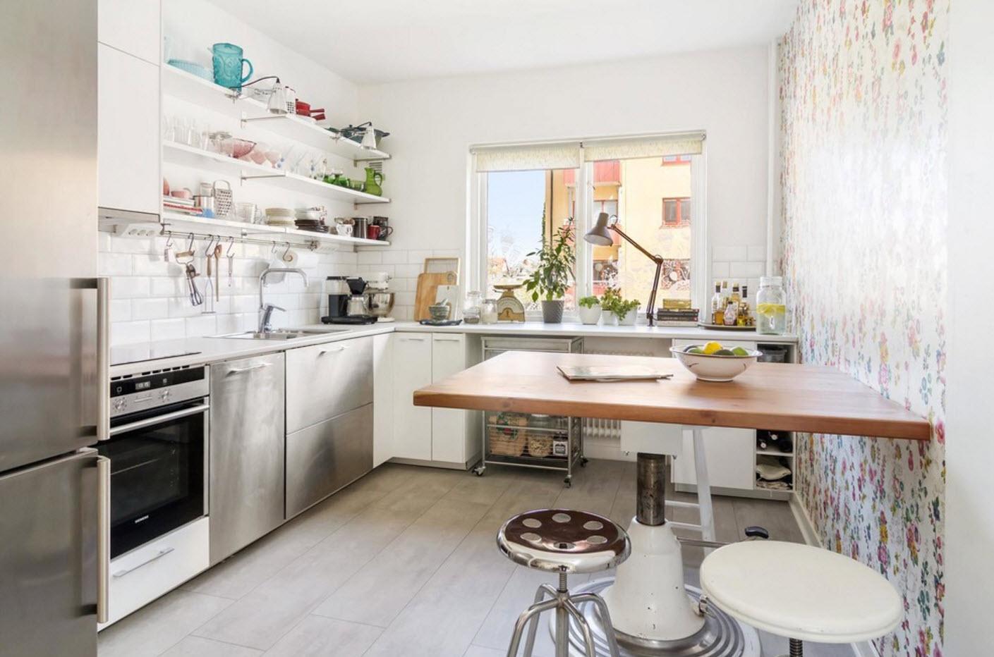 столешница вместо подоконника на кухне дизайн