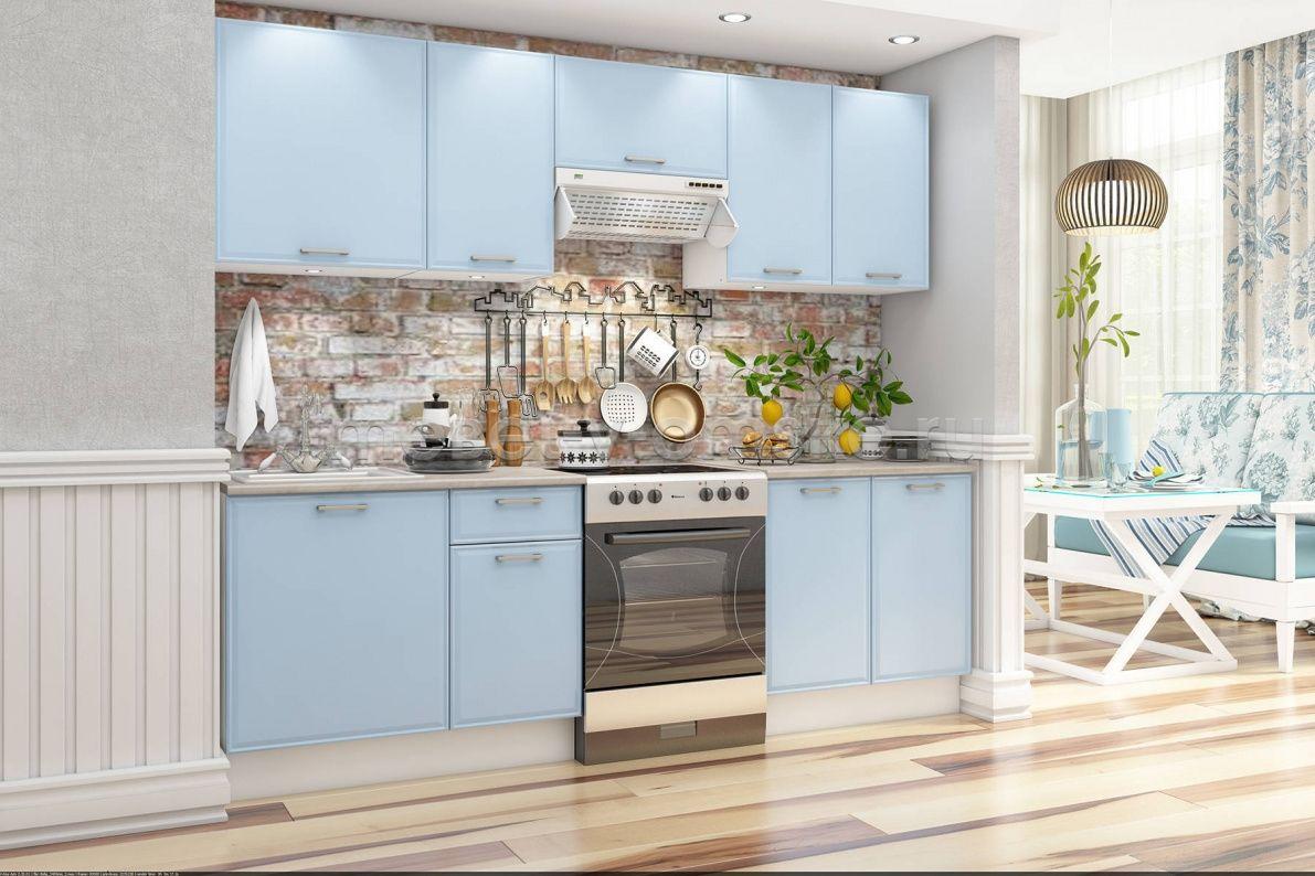 светлый кухонный гарнитур