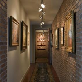 узкий коридор в квартире виды дизайна