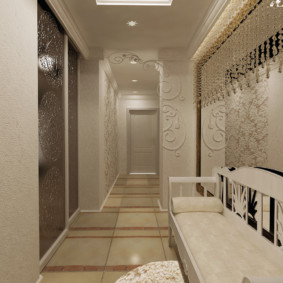 узкий коридор в квартире виды декора