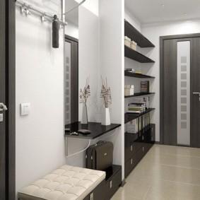 узкий коридор в квартире виды интерьера