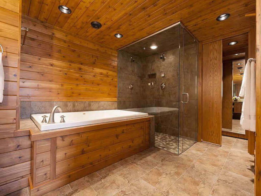 Интерьер ванной в деревенском доме