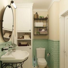 Плитка кабанчик в небольшой ванной