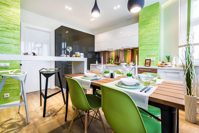 варианты отделки стен для кухни