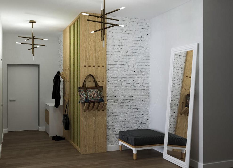 Открытая вешалка в прихожей стиля лофт