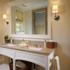 зеркало для ванной идеи интерьера