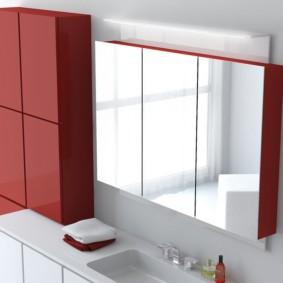зеркало для ванной интерьер фото