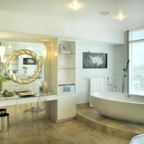 зеркало для ванной интерьер идеи
