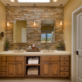 зеркало для ванной декор фото