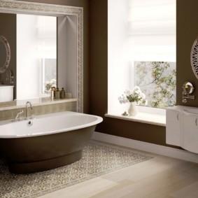 зеркало для ванной декор идеи