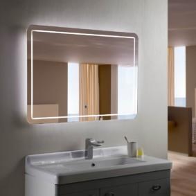 зеркало для ванной дизайн идеи