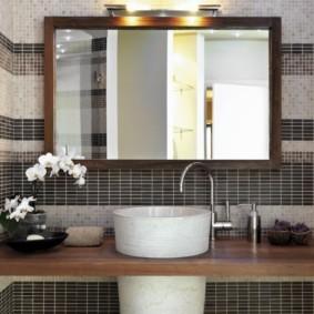 зеркало для ванной фото декора