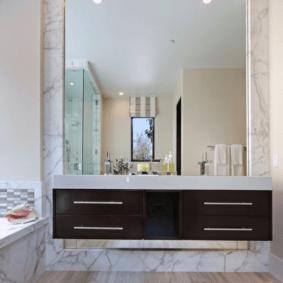 зеркало для ванной идеи
