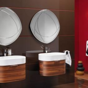 зеркало для ванной идеи декор