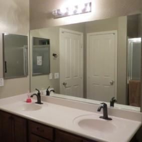 зеркало для ванной идеи декора