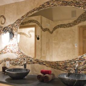 зеркало для ванной идеи дизайна
