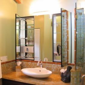зеркало для ванной интерьер