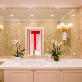 зеркало для ванной виды