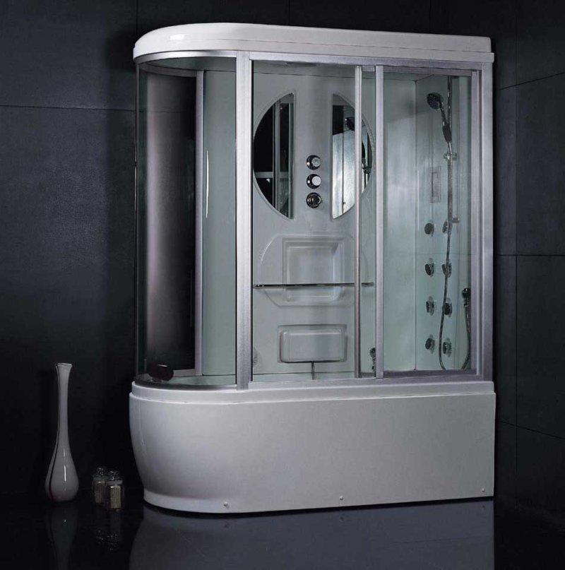 Закрытая душевая кабина с душем и гидромассажем