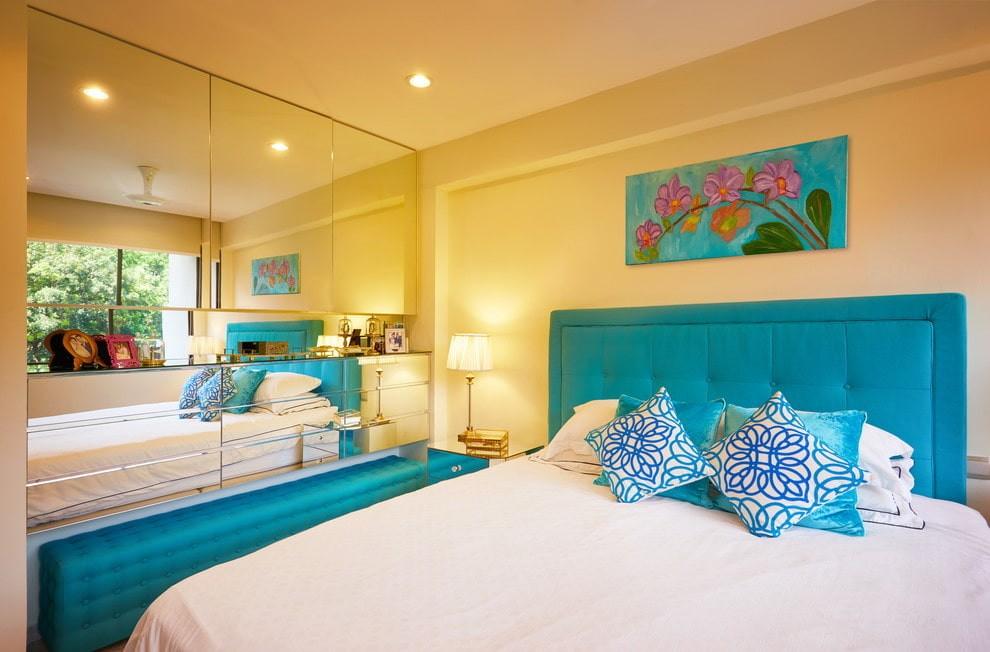 желтая спальня дизайн
