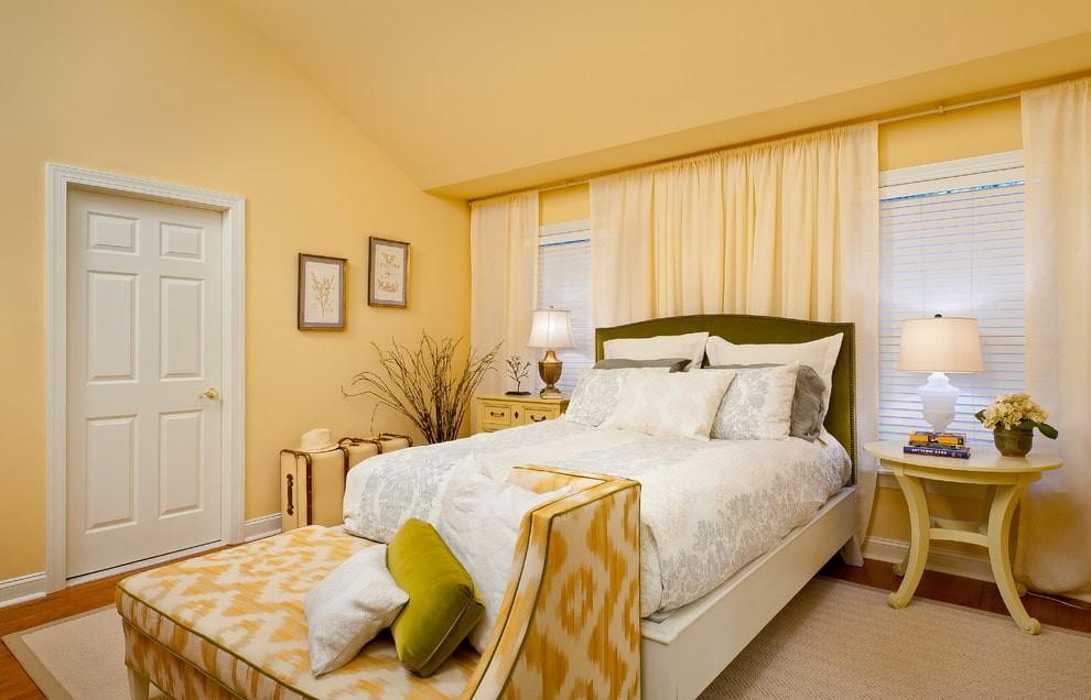 желтая спальня фото идеи