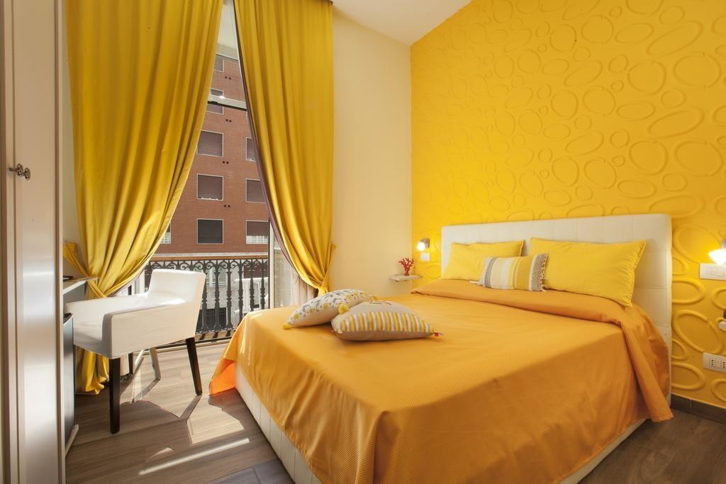 желтая спальня идеи интерьера