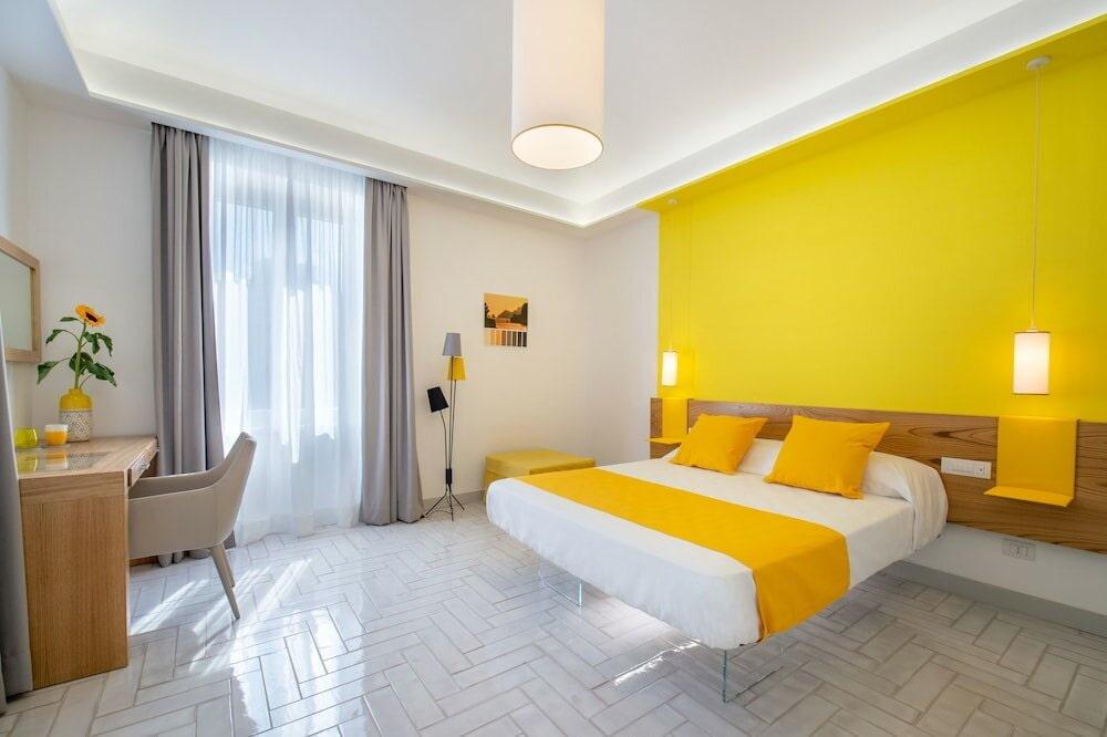 желтая спальня виды фото