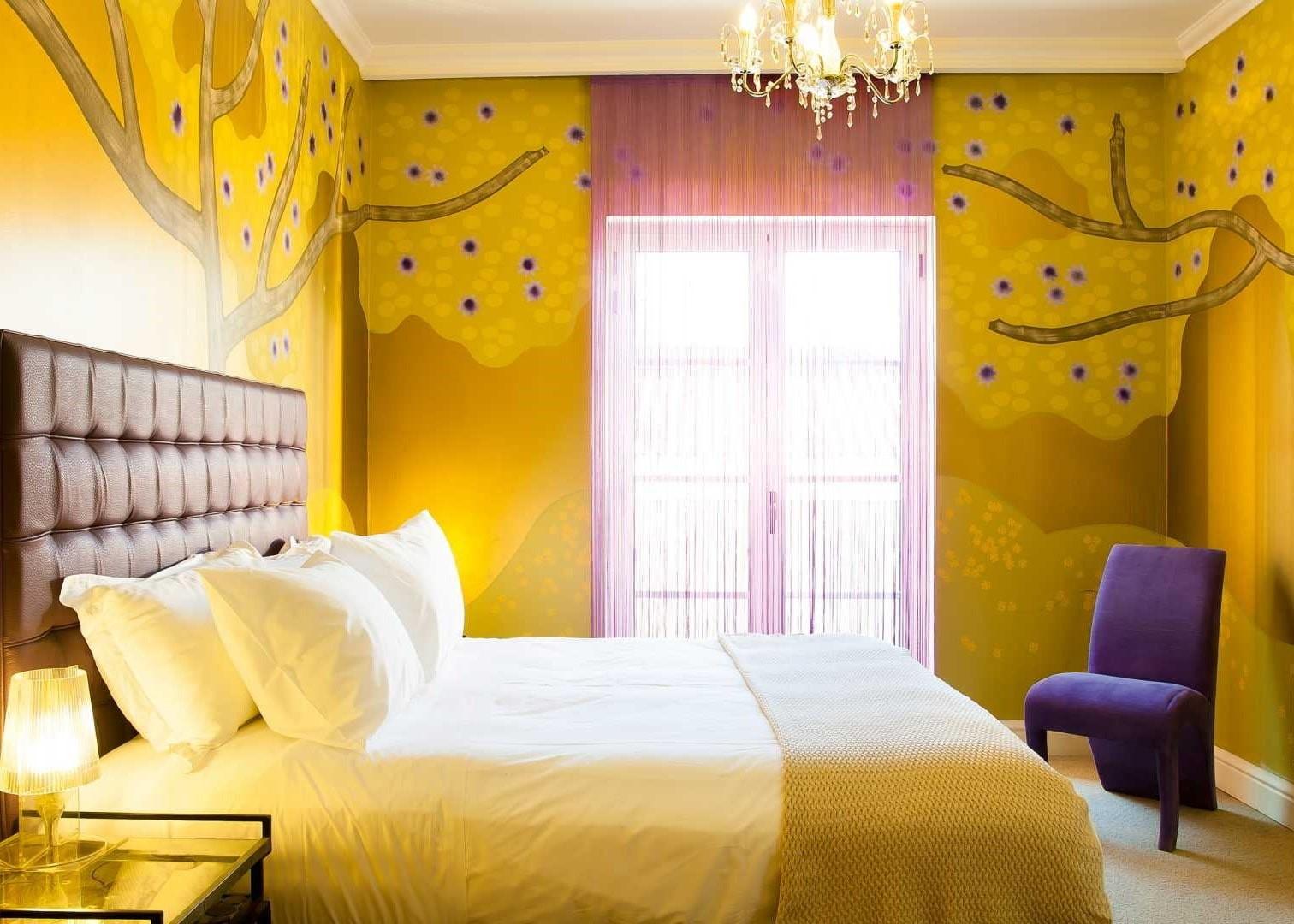 желтая спальня декор идеи