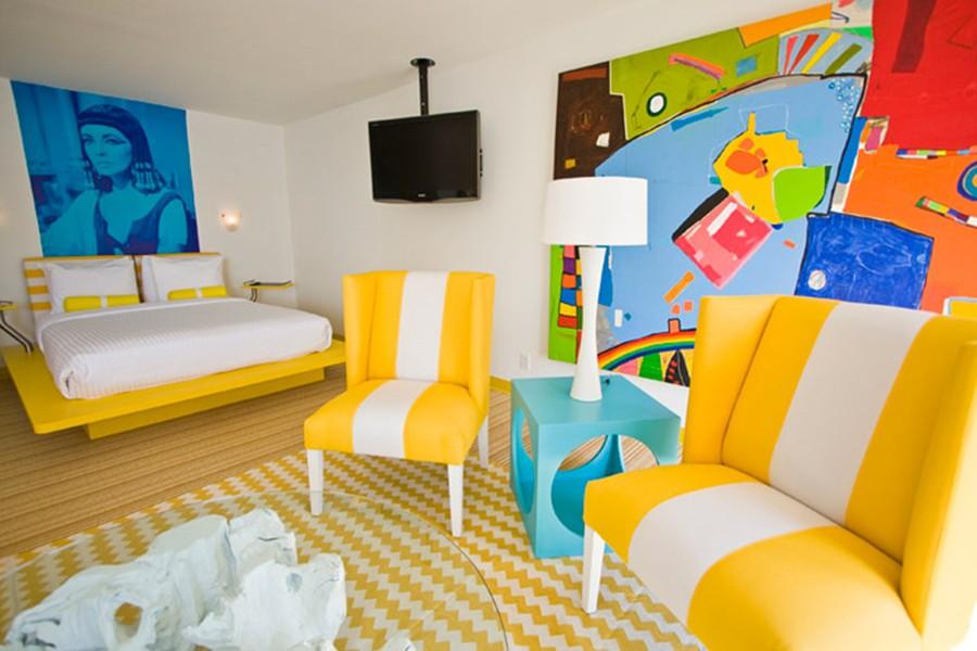 желтая спальня фото дизайна