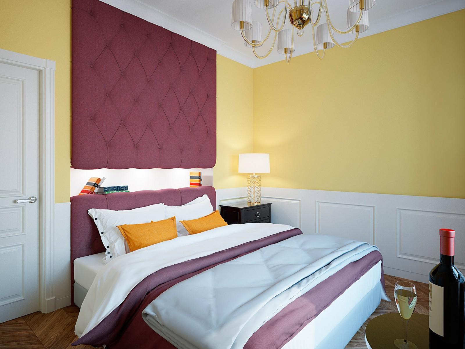 желтая спальня идеи дизайна