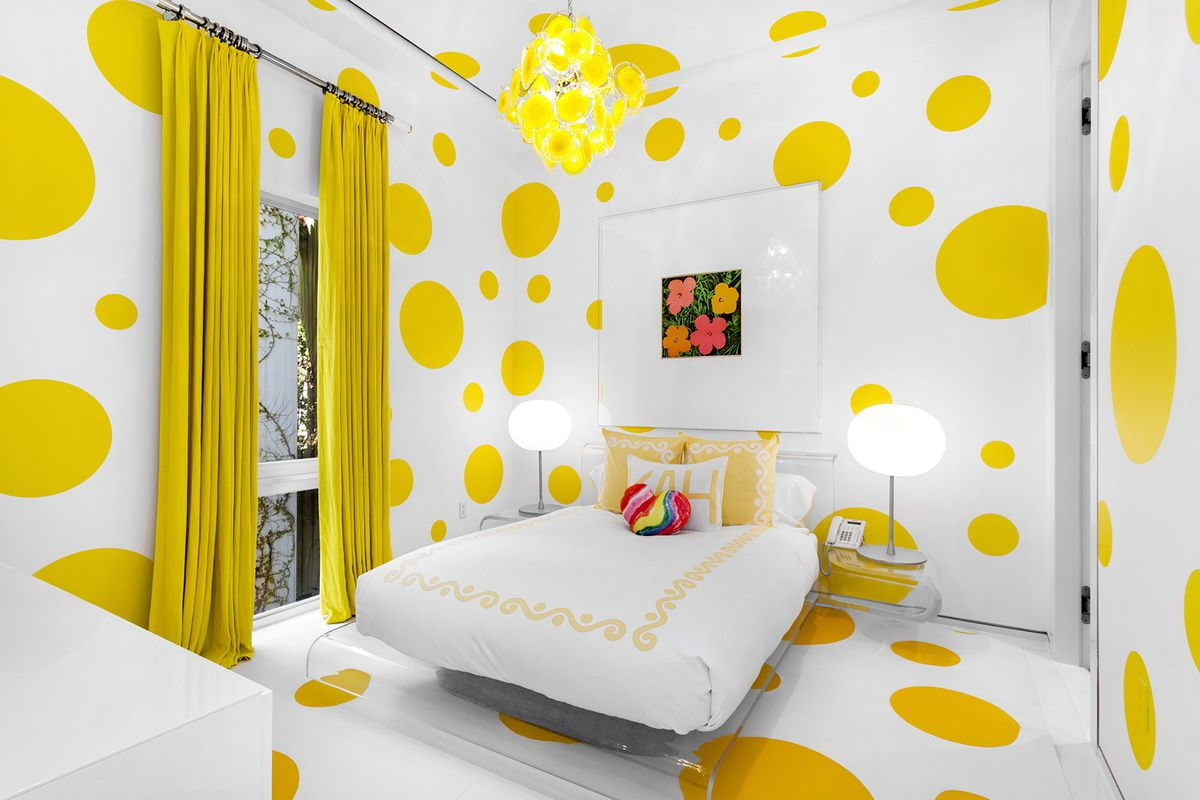 желтая спальня виды идеи