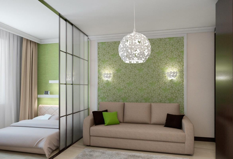 спальня гостиная сплошные перегородки