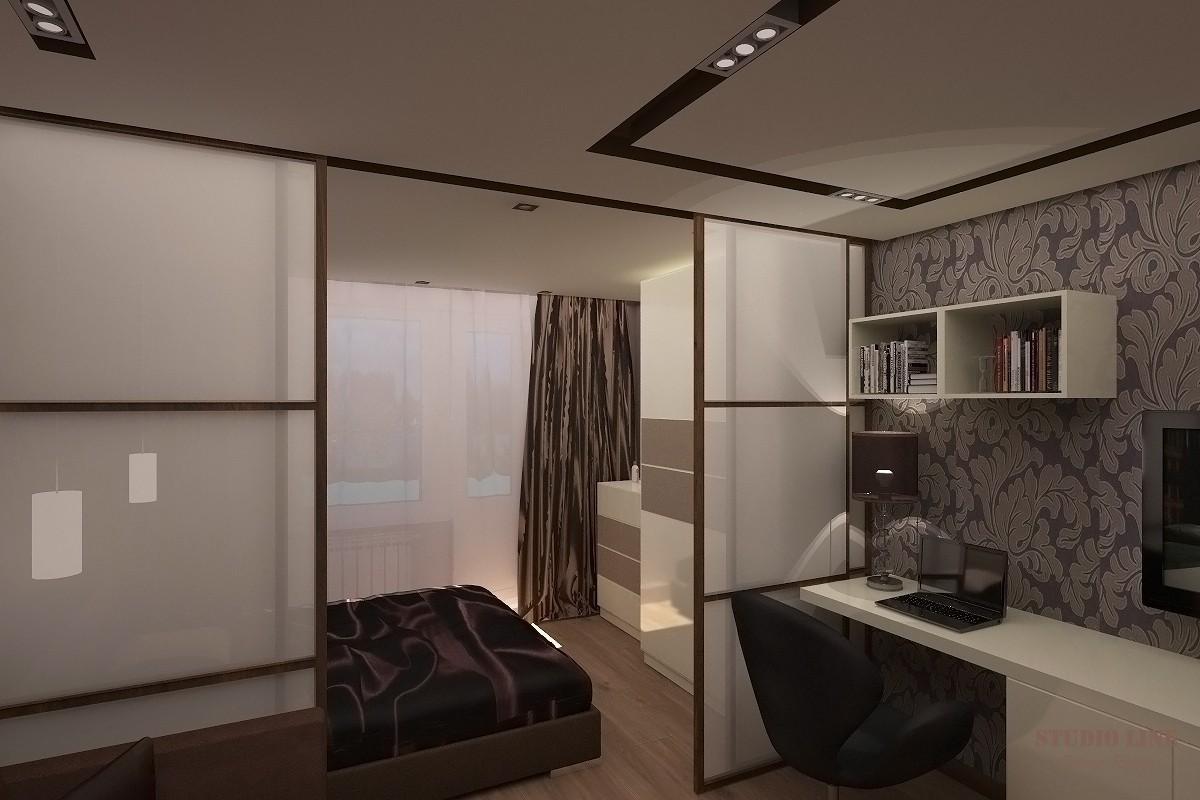 спальня гостиная перегородки