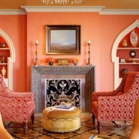 гостиная в восточном стиле дизайн
