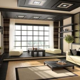 гостиная в восточном стиле дизайн фото