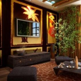 гостиная в восточном стиле фото дизайн