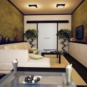 гостиная в восточном стиле идеи дизайн