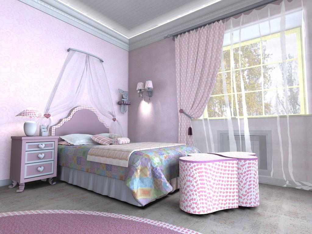 комната для девочки 16 кв м