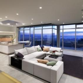 современный минимализм в большой квартире
